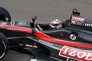 Wheldon puts 2012 prototype on the oval at the Brickyard