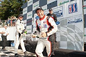 IMSA Lites' Champion Vera tests Dyson Mazda LPM car