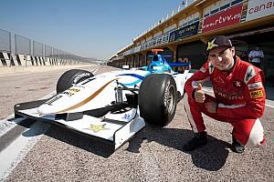 Jorge Lorenzo tries out a GP2 car of  Barwa Addax Team