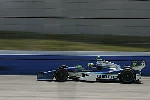 Tony Kanaan powers to win in second Iowa qualifying heat