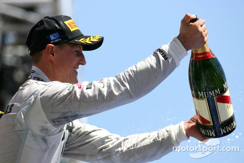 Schumacher keeps podium after stewards inquiry