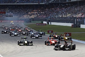 Lotus GP's Calado went from pole to victory in Hockenheim Sprint Race
