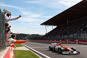 Force India enjoyed a strong showing at Belgian GP