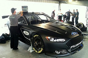 Ford stays busy gathering data for 2013 Fusion at Martinsville - Video