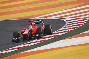 A regular Friday practice for Marussia in India