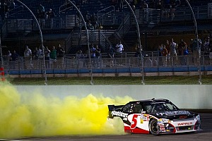 Regan Smith celebrates his first NNS victory at Homestead