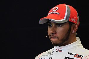 Hamilton cries during interview for last McLaren race