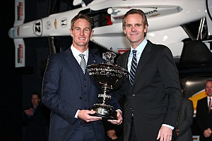 Hunter-Reay collects million dollar bonus as 2012 IndyCar Champion in Indianapolis