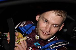 Novikov moves his Fiesta into third on the Monte's leg 3