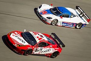 Ferrari on the podium at the Daytona 24 Hours