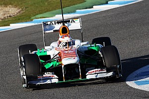 Di Resta completed a busy first day of testing in Jerez