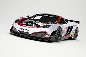 The Hexis Racing McLarens resplendent in their 2013 livery prepare to start testing