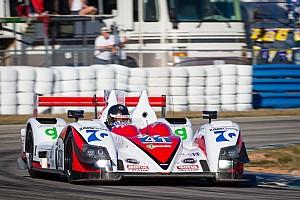 P2 podium celebrations for Greaves Motorsport in Florida
