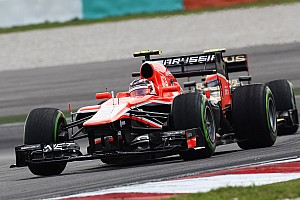 Marussia F1 completes practice at Sepang