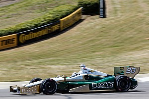 Carpenter improves his speed in qualifying at Barber