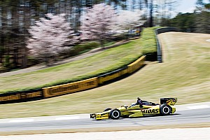 Rahal dropped from 12th to 21st on the final lap of the GP of Alabama