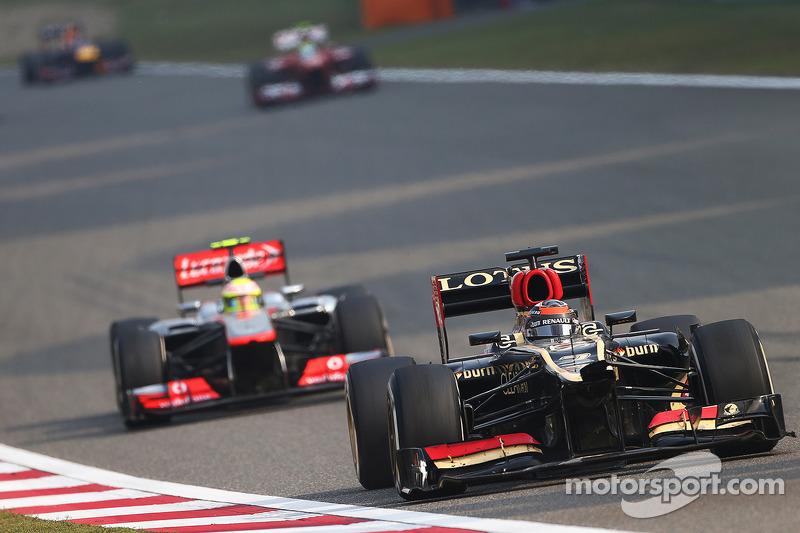 Driving a damaged Lotus, Raikkonen finished second on Chinese GP