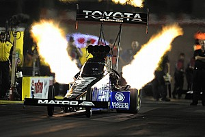 Brown leads DSR in Top Fuel class near Houston in Friday qualifying