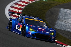 Kazuki Nakajima and Kota Sasaki at top of Fuji GT 500km race qualifying