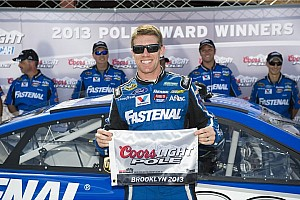 Edwards locks up pole at Roush's home track in Michigan