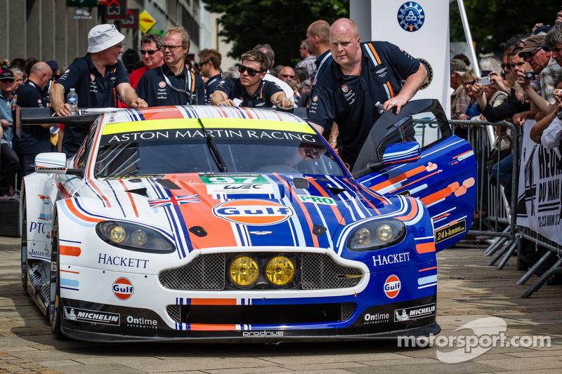 Aston Martin Racing unveils winning Le Mans Gulf livery