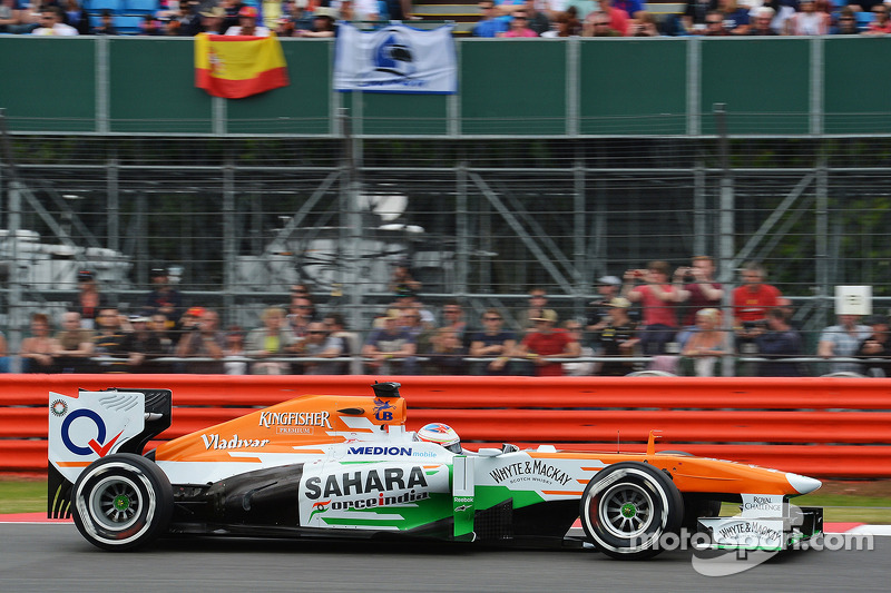Sahara Force India drivers are top-10 on qualifying at Silverstone