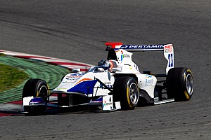 Trident Racing's Venturini scored his maiden win at Silverstone