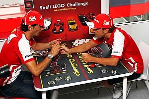 Scuderia Ferrari official driver Alonso and test driver De la Rosa launch the Shell LEGO Challenge