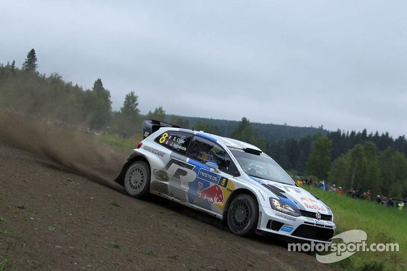 Lead in Finland: Volkswagen's Ogier shows his class