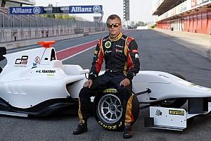 Kimi Raikkonen at the wheel of the GP3/13 car
