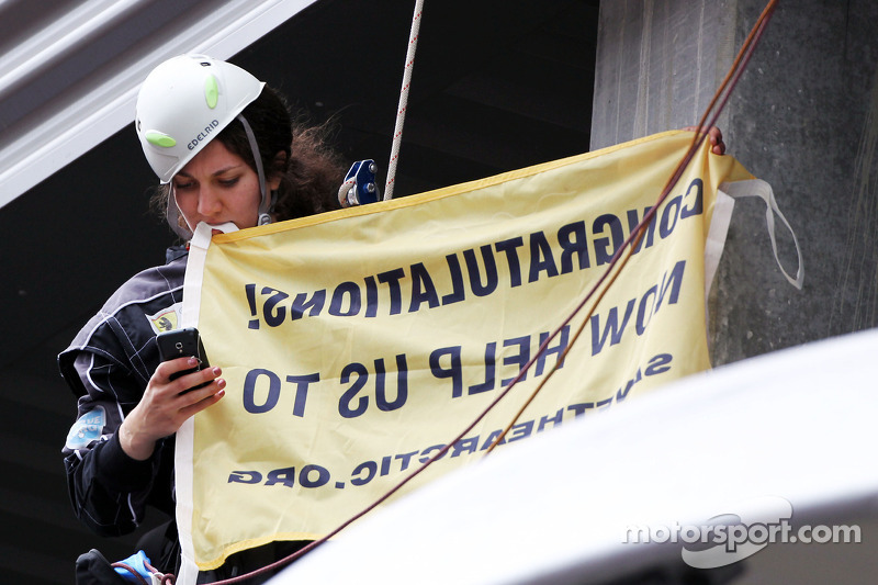 Formula One organisers tried to hurt me - Greenpeace 'Julia'