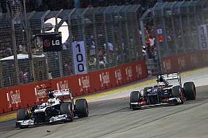 Maldonado finished 11th with Bottas 13th in tonight's Singapore GP