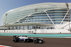 Williams tested development package for 2014 on Friday practice for Abu Dhabi GP