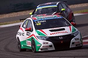 Tiago Monteiro on pole in China