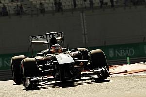 Sauber's Hulkenberg qualified sixth for the Abu Dhabi GP