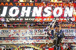 Johnson dominant force in Texas 500 victory