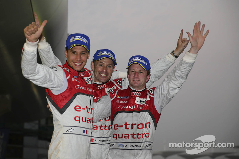 Duval/Kristensen/McNish World Champions with Audi
