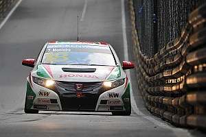 Tiago Monteiro on the front row in Macau