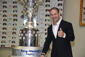 Indy 500 winner Kanaan cherishes likeness on Borg-Warner trophy