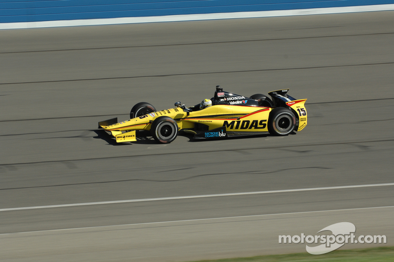 Rahal optimistic after completing the first of a two day test