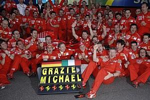 Scuderia Ferrari statement on Michael Schumacher