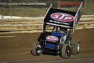 Schatz Charges through field for first World of Outlaws win of 2014