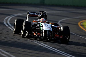 Force India after Friday's practice at Albert Park