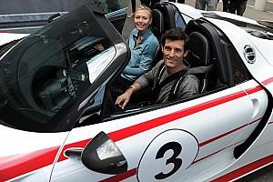 Maria Sharapova and Mark Webber: joyride in the 918 Spyder