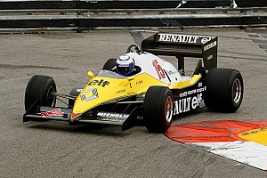 Alain Prost back in his Renault F1 Turbo from 1983