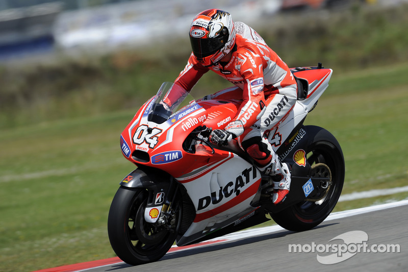 Dovizioso 10th, Crutchlow 13th in first free practice at TT Assen