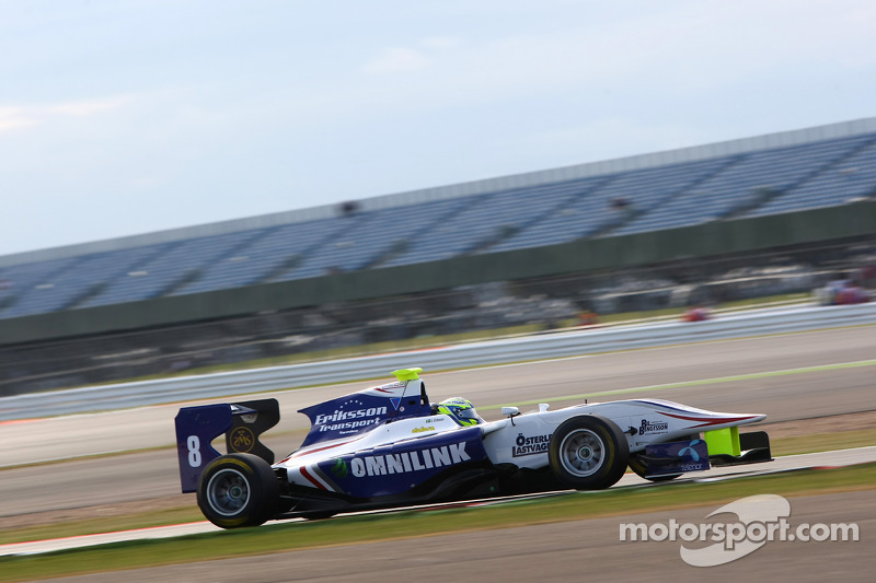 Jimmy Eriksson takes first pole in wet Silverstone