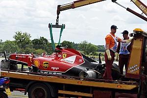 British GP red flagged after big crash