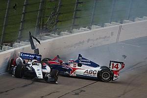 Weather and restart crash slow IndyCar race at Iowa