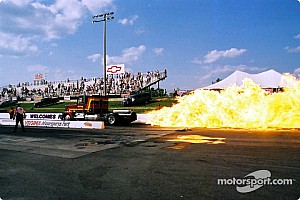 Flames, famous drivers star in 'Night Under Fire' at Summit